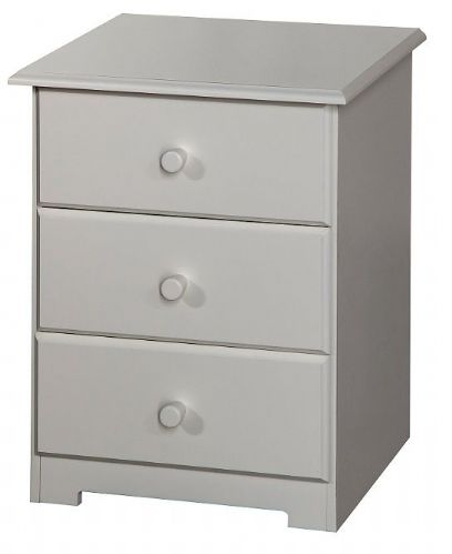 Balmore White 3 Drawer Bedside